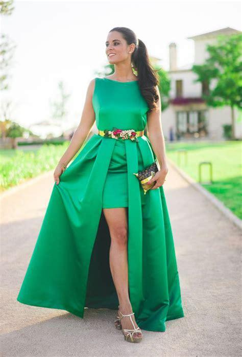 Cómo combinar un vestido verde para una boda ...