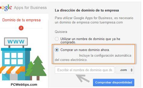 Como Comprar un Dominio con Google Apps | PCWebtips