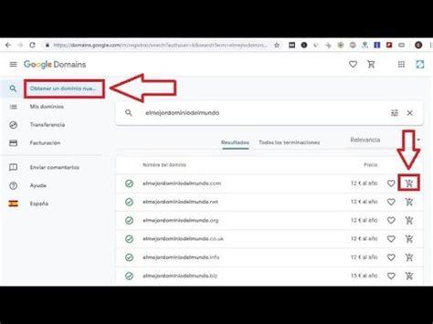 Como COMPRAR un DOMINIO en GOOGLE  FÁCIL y RÁPIDO     YouTube