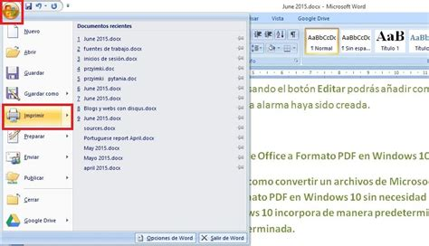 Como convertir documentos de Office a Formato PDF en ...