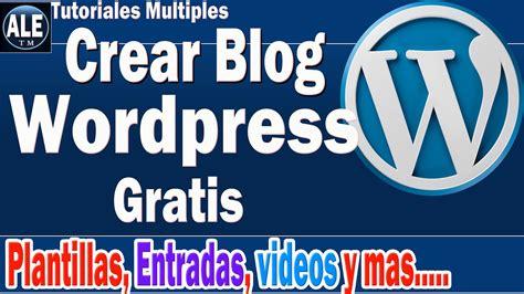 Como Crear Blog En Wordpress Gratis | Paso A Paso   YouTube