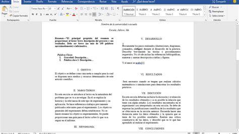 Como crear un articulo científico para proyectos o tareas ...