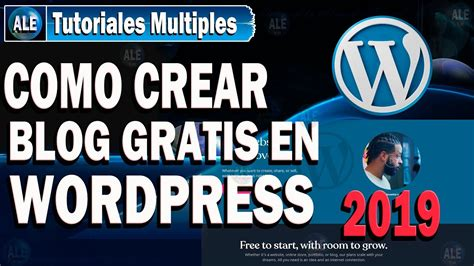 Como Crear Un Blog En Wordpress   YouTube