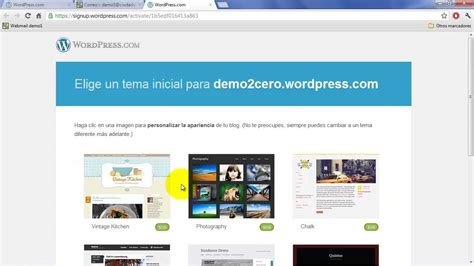 Cómo crear un blog gratis con Wordpress.com   Tutorial ...