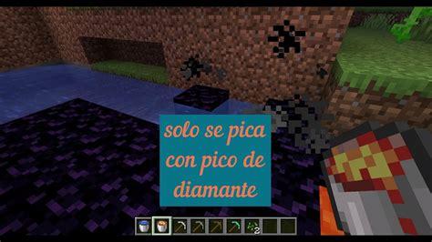 COMO CREAR UN PORTAL EN Minecraft   YouTube