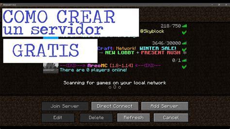 Como crear un SERVIDOR para Minecraft GRATIS   SERVER.PRO ...