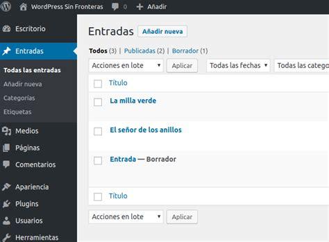 Cómo crear una entrada en WordPress   WordPress Sin ...