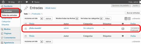 Como Crear una Entrada y Pagina en WordPress