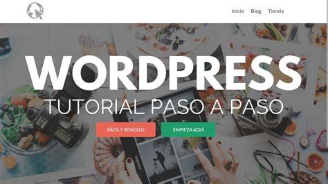 Como Crear una Pagina de WordPress  2019   Para ...