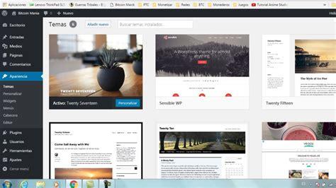 Como crear una pagina web gratis  3ª Temas  wordpress ...