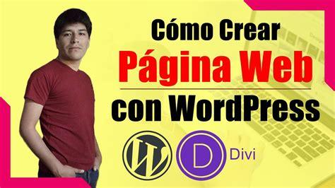 Cómo CREAR una Página Web Profesional con WordPress  #001 ...