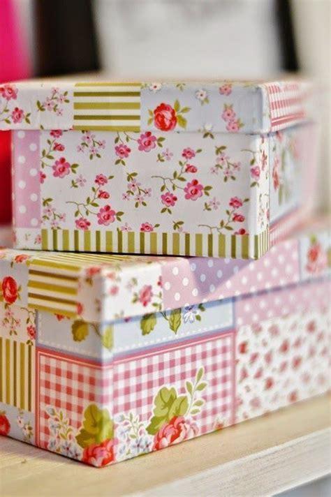 Cómo decorar cajas de cartón para guardar cosas. 5 ideas ...