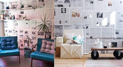 Cómo decorar paredes con papel de periódico   ideas y pasos