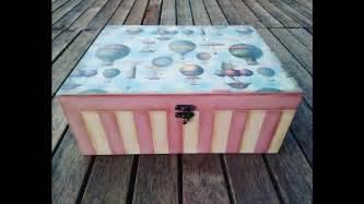 Cómo decorar una caja de madera vintage   YouTube