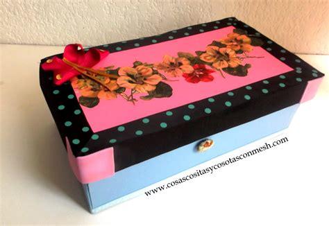 Como decorar una caja de zapatos ~ cositasconmesh