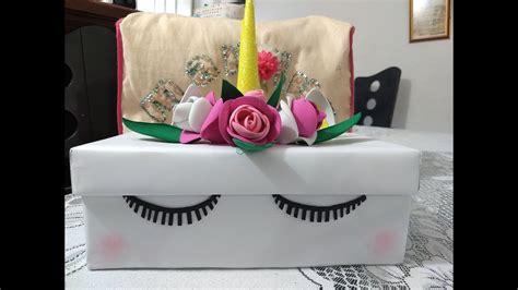 Como Decorar Una Caja De Zapatos De Unicornio   Varios Zapatos
