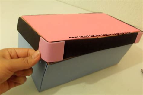 ¿como decorar una caja de zapato?   ManualidadesPauVila_E&D