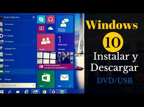 Como Descargar e instalar Windows 10 | USB o DVD Paso a ...