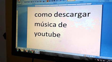 Cómo descargar música   YouTube