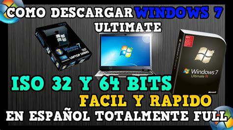 Como Descargar Windows 7 Ultimate ISO Original 32 Y 64 ...