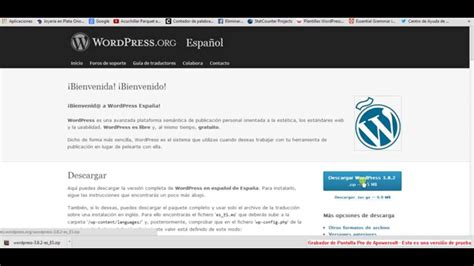 Como Descargar Wordpress 3.8.2 en Español   YouTube