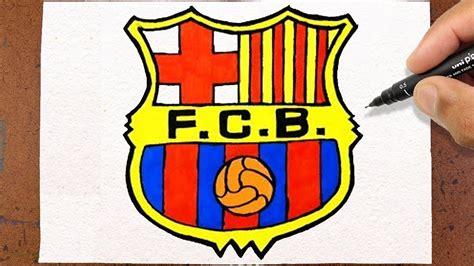 Como desenhar e pintar Escudo FC Barcelona Futebol   YouTube