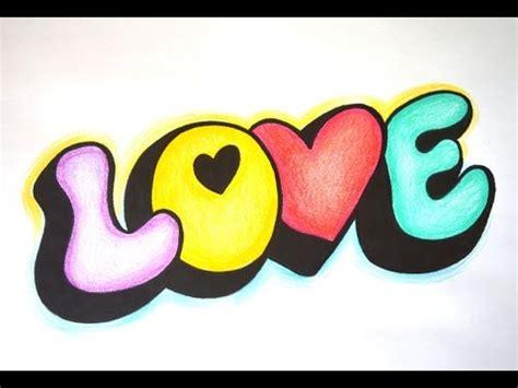 Como desenhar Love 3d   Desenho simples passo a passo ...