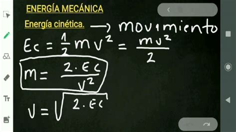 Cómo despejar la MASA y la VELOCIDAD en fórmula de la ...