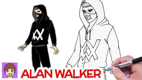 Como Dibujar a Alan Walker Paso a Paso   Dibujos Faciles ...