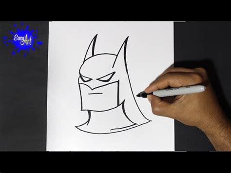 Como dibujar a batman   How to draw batman   YouTube