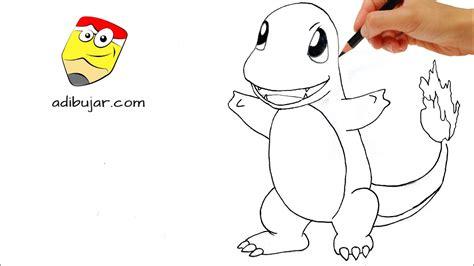 Cómo dibujar a Charmander  Pokemon  a lápiz fácil paso a ...