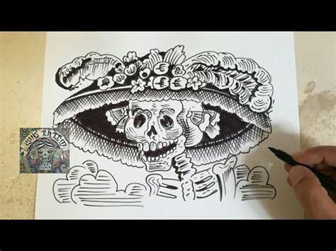 COMO DIBUJAR A LA CATRINA   dibujo en vivo   how to draw ...