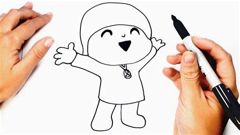 Cómo dibujar a Pocoyo paso a paso   Dibujo fácil de Pocoyo ...