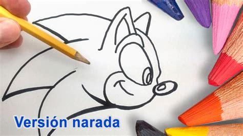 Como Dibujar a Sonic Paso a Paso a Lapiz Lento   How to ...