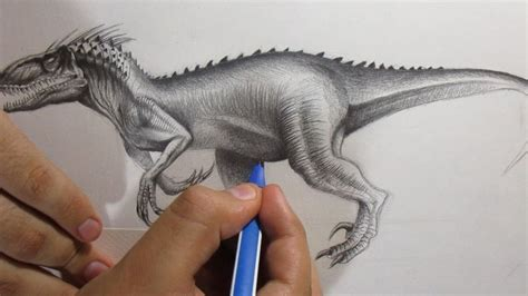 Cómo Dibujar al Indoraptor de Jurassic World 2 a Lápiz ...
