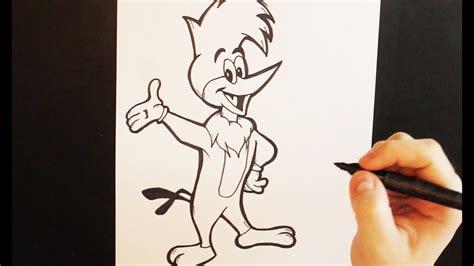 Como Dibujar al Pajaro Loco   Dibujo de El Pajaro Loco ...