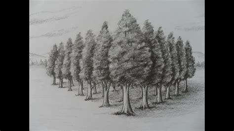 Como Dibujar Árboles en Perspectiva. Estudio dos puntos de ...