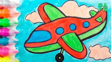 Cómo dibujar Aviones | Aprende colores para niños con ...