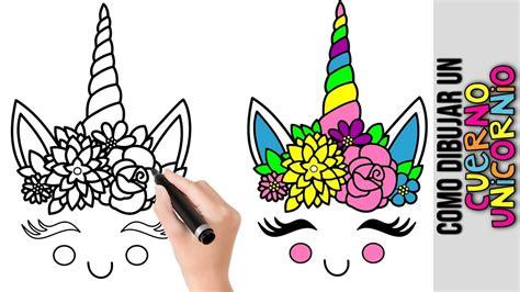 Como Dibujar Cuerno Unicornio Kawaii  Dibujos De ...