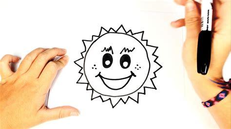 Cómo dibujar el sol para niños paso a paso   YouTube