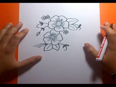 Como dibujar flores paso a paso 2 | How to draw flowers 2 ...