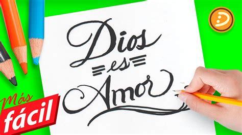 Como dibujar la palabra Dios es Amor paso a paso   How to ...