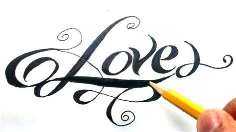Como dibujar la palabra love paso a paso    How to draw ...