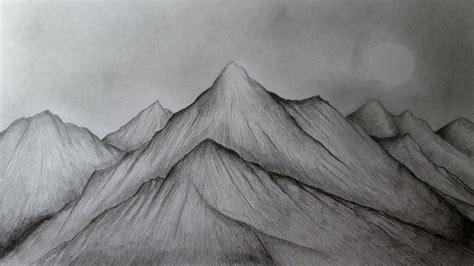 Cómo dibujar montañas realistas a lápiz paso a paso ...