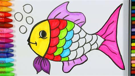 Cómo dibujar peces   Cómo dibujar y colorear los para ...