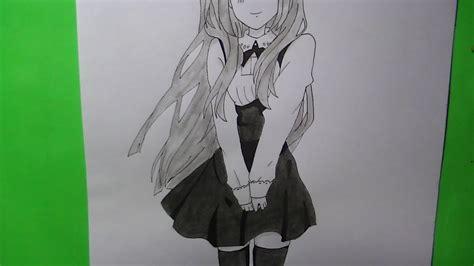 Como dibujar/pintar chica anime/manga school   YouTube