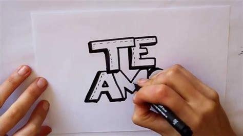 Cómo dibujar TE AMO letras Dibuja Conmigo Dibujos de Amor ...