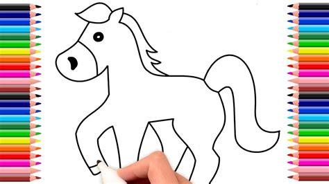 Como dibujar un caballo   Dibujo de caballo   Drawing ...