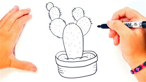 Cómo dibujar un Cactus paso a paso   Dibujo fácil de ...