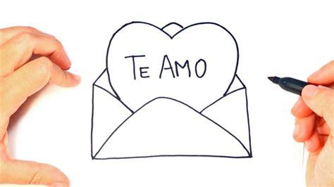 Como dibujar un Carta de Amor paso a paso | Dibujo Carta ...